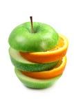 Arancio e mela della frutta in piramide Immagine Stock Libera da Diritti