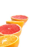 Arancio e pompelmo Fotografia Stock Libera da Diritti