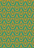 Arancio e ripetizione blu Fotografia Stock