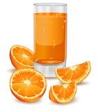 Arancio e spremuta Fotografie Stock