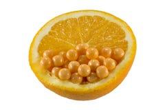 Arancio e vitamina C Fotografia Stock Libera da Diritti