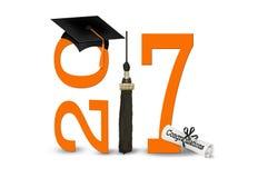 Arancio ed annerisca la graduazione 2017 Fotografie Stock Libere da Diritti