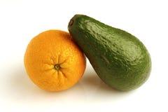 Arancio ed avocado Immagini Stock Libere da Diritti