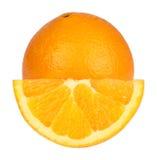 Arancio fresco isolato Fotografie Stock Libere da Diritti