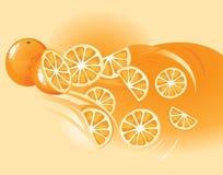 Arancio, frutta royalty illustrazione gratis