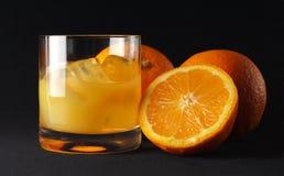 Arancio ghiacciato Fotografia Stock Libera da Diritti