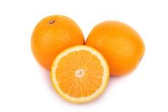 Arancio isolato su bianco Immagine Stock Libera da Diritti