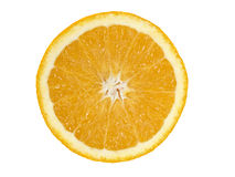 Arancio isolato su priorità bassa bianca. Fotografie Stock