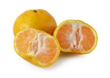 Arancio isolato su priorità bassa bianca Fotografie Stock Libere da Diritti