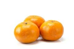 Arancio isolato su priorità bassa bianca Immagine Stock Libera da Diritti