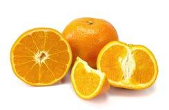 Arancio isolato su priorità bassa bianca Fotografia Stock