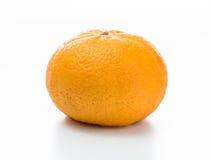Arancio isolato su priorità bassa bianca immagini stock libere da diritti