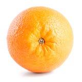 Arancio isolato su priorità bassa bianca Fotografia Stock Libera da Diritti