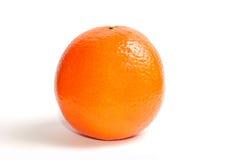 Arancio isolato su un bianco Fotografia Stock Libera da Diritti