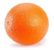 Arancio isolato su una priorità bassa bianca Fotografia Stock