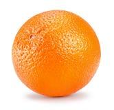 Arancio isolato su una priorità bassa bianca Fotografia Stock Libera da Diritti