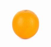 Arancio maturo su priorità bassa bianca Fotografie Stock Libere da Diritti