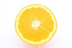 Arancio mezzo del taglio immagini stock