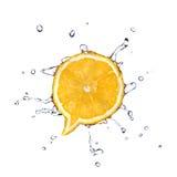 Arancio nella figura della finestra di dialogo fotografia stock libera da diritti