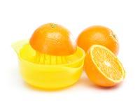 Arancio - produrre il succo di arancia Fotografia Stock Libera da Diritti