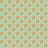 Arancio - reticolo senza cuciture del tessuto blu Fotografia Stock