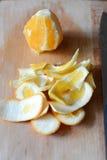 Arancio sbucciato Fotografia Stock