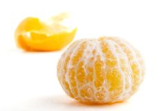 Arancio senza buccia fotografia stock libera da diritti