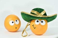 Arancio sorpreso fotografia stock libera da diritti