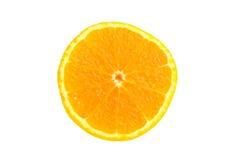 Arancio su priorità bassa bianca Fotografie Stock