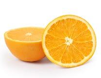Arancio su priorità bassa bianca Immagini Stock Libere da Diritti