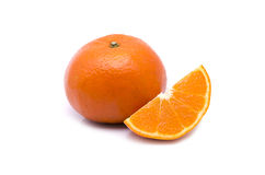 Arancio su priorità bassa bianca Immagine Stock
