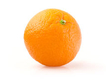 Arancio su priorità bassa bianca Fotografie Stock Libere da Diritti