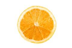 Arancio su una priorità bassa bianca Fotografia Stock