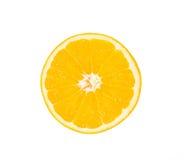 Arancio su una priorità bassa bianca Fotografie Stock
