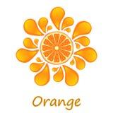 Arancio sugoso Immagini Stock