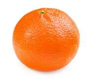 Arancio sugoso isolato su una priorità bassa bianca fotografie stock libere da diritti