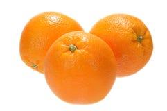 Arancio tre Immagini Stock