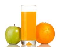 Arancione e vetro di spremuta immagini stock
