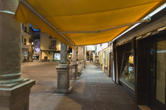 Aranda de Duero (Spain). ARANDA DE DUERO, SPAIN - DECEMBER 27, 2014: One of the streets of the old town at night Stock Photo