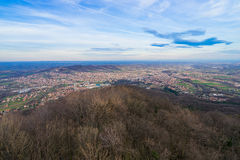 Arandjelovac Town. View of Arandjelovac town in winter from mountain Bukulja, Serbia stock photography