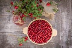 Arandos maduros, suco de fruta, doce Foto de Stock