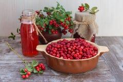Arandos maduros, suco de fruta, doce Fotos de Stock Royalty Free
