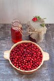 Arandos maduros, suco de fruta, doce Imagem de Stock