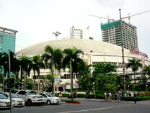 Araneta kolosseum w cubao, quezon miasto w Philippines, Asia fotografia royalty free