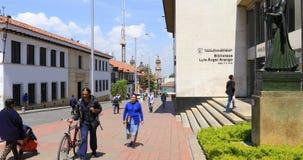 Arango-Bibliothek in Bogota stock footage