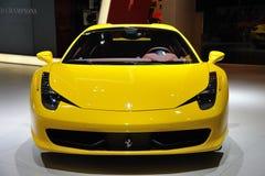 Aranha amarela de Ferrari 458 imagens de stock