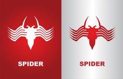 aranha, aranha branca, aranha vermelha, vírus de computador ilustração royalty free