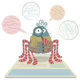 Aranha da esteira rolante de Web ilustração stock