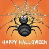 Aranha de Dia das Bruxas Fotografia de Stock