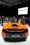 Aranha de McLaren 650S na exposição automóvel de Genebra Fotos de Stock Royalty Free